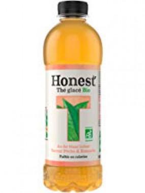HONEST Thé Glacé BIO  Boisson Infuse Thé Blanc infusé saveur peche & romarin 37,5cl